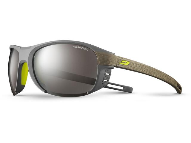 Julbo Regatta Polarized 3+ Sunglasses Gray/Brown-Gray Flash Silver